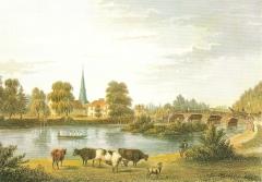 Blick auf den Eppendorfer Leinpfadkanal - im Jahr 1845
